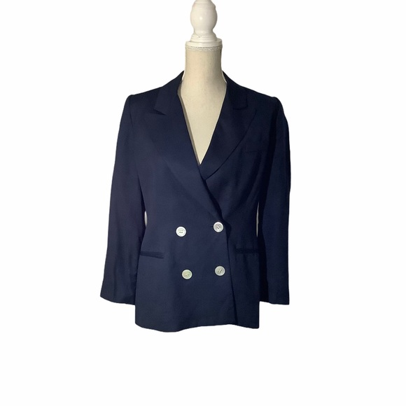 Christian Dior Double Breasted Navy Blazer